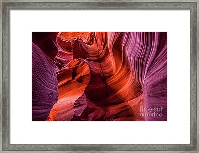Solid Lava - The Amazing Antelope Slot Canyons In Arizona, Usa. Framed Print