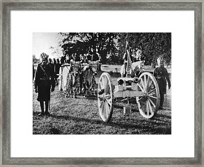 Solid Silver Cannon Framed Print by Underwood Archives