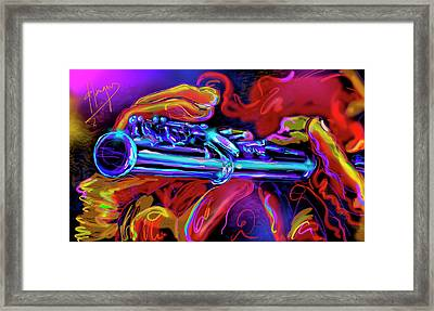 Solid Silver Framed Print