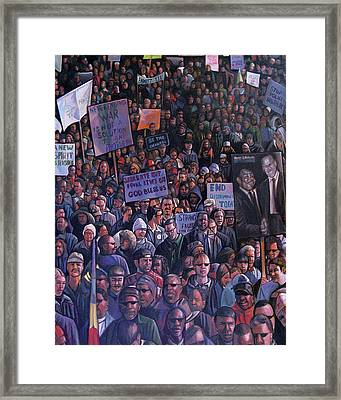 Solidarity Framed Print by Curtis James