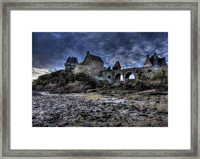 Solidor At Dusk Before A Storm Framed Print by Karo Evans