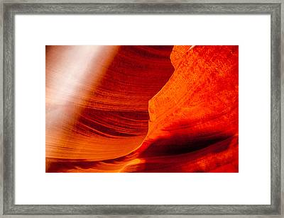 Solitary Beam Framed Print by Az Jackson