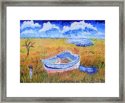 Solitary Boat  Framed Print by Warren Thompson