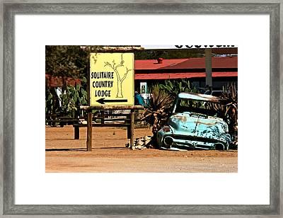 Solitary Country Lodge Framed Print by Miranda  Miranda