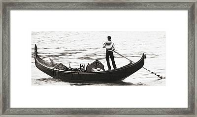 Solitary Gondolier Framed Print