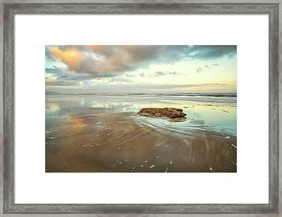 Solitary Rock Framed Print
