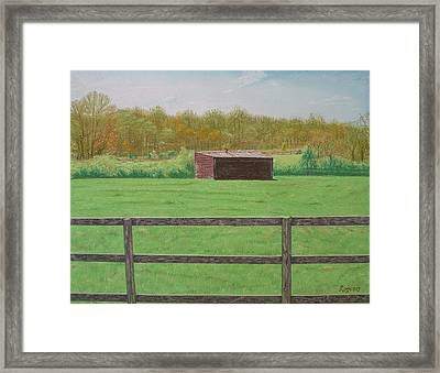 Solitary Shed Framed Print