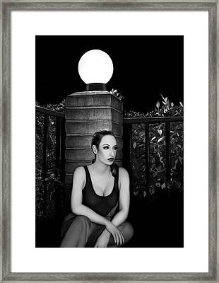 Solitary Soul - Self Portrait Framed Print by Jaeda DeWalt
