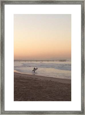Solitary Surfer Framed Print by Art Block Collections
