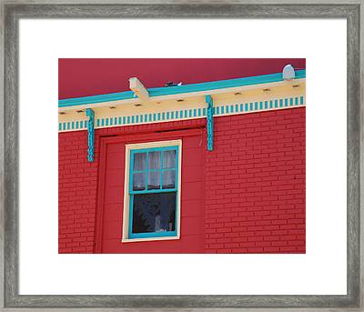 Framed Print featuring the photograph Solitary Window by Richard Bryce and Family