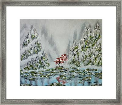 Framed Print featuring the painting Solitude by Amelie Simmons