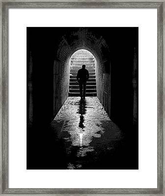 Solitude - Ascending To The Light Framed Print