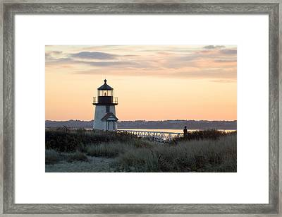 Solitude At Brant Point Light Nantucket Framed Print