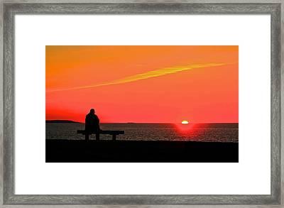 Solitude At Sunrise Framed Print
