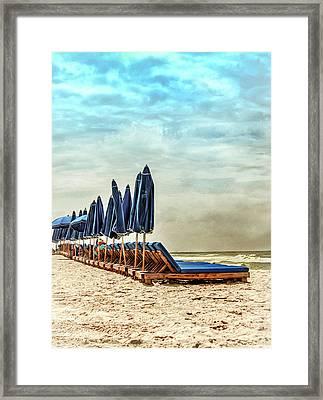 Solitude At The Beach  Framed Print