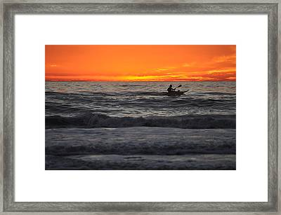 Solitude But Not Alone Framed Print