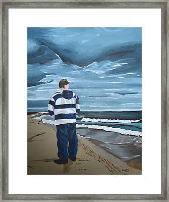 Solitude Framed Print by Donna Blossom