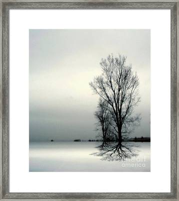 Framed Print featuring the digital art Solitude by Elfriede Fulda