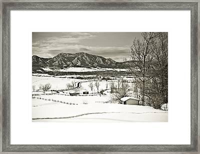 Solitude In Boulder County Framed Print