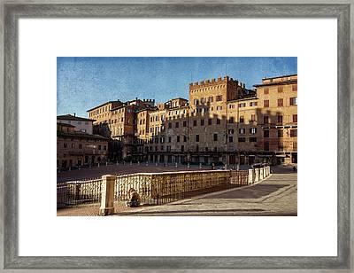 Solitude In Il Campo Siena Italy Framed Print