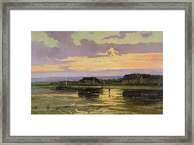 Solitude In The Evening Framed Print by Marie Joseph Leon Clavel Iwill