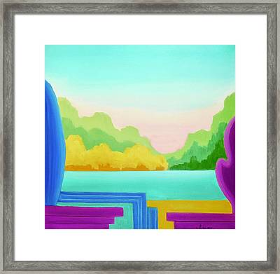 Framed Print featuring the painting Solitude by Irene Hurdle