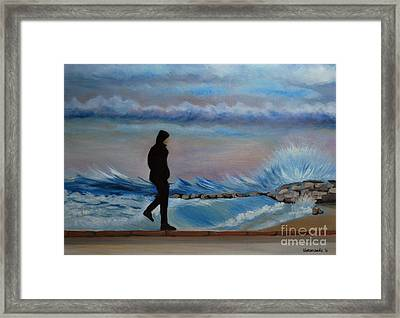 Solitude Framed Print by Kostas Koutsoukanidis