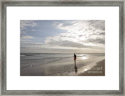 Solitude Framed Print by Linda Lees