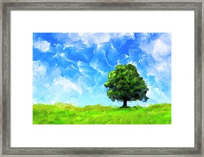Solitude - Lone Tree Landscape Framed Print
