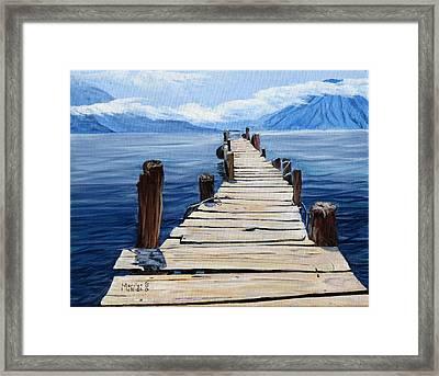 Crooked Dock  Framed Print