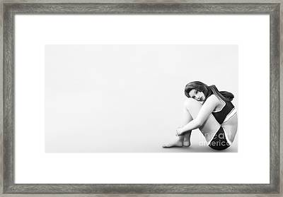 Framed Print featuring the digital art Solitude by Methune Hively