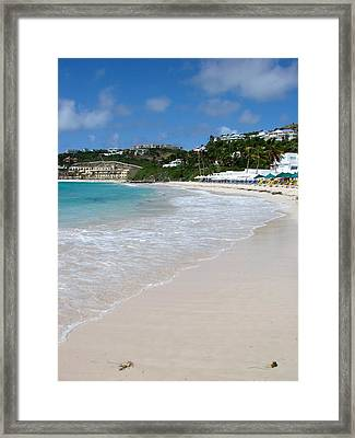 Solitude On Dawn Beach Framed Print
