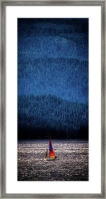 Framed Print featuring the photograph Solitude On Priest Lake by David Patterson