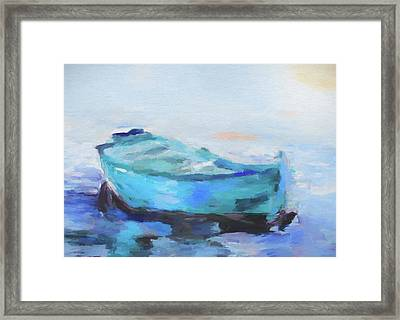 Solitude On The Sea Framed Print by Dan Sproul