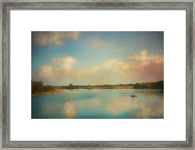 Solitude On The Tennessee River Framed Print