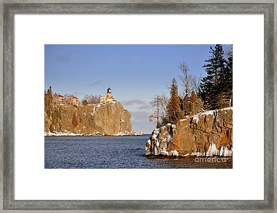Solitude Rock Framed Print by Whispering Feather Gallery