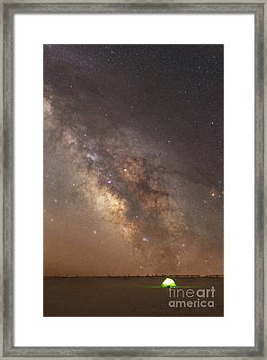 Solitude Under The Galaxy  Framed Print by Michael Ver Sprill