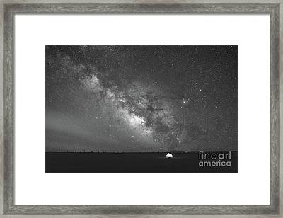 Solitude Under The Stars Bw Framed Print by Michael Ver Sprill