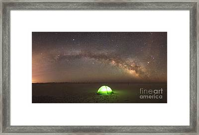 Solitude Under The Stars Panorama Framed Print by Michael Ver Sprill
