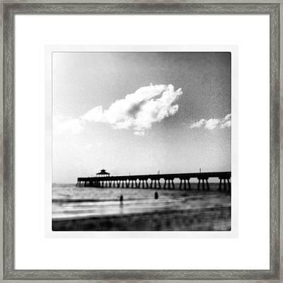 Solo Beach Day Framed Print