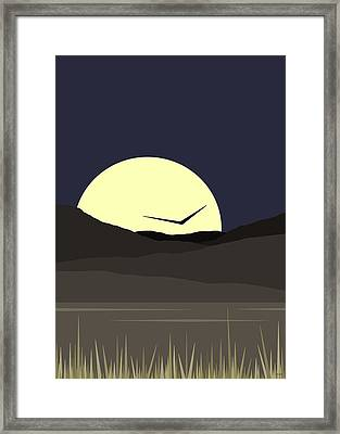 Framed Print featuring the digital art Solo Flight - Vertical by Val Arie