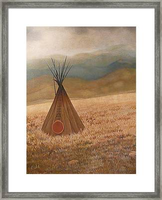 Solo Journey Framed Print by Maria Hathaway Spencer