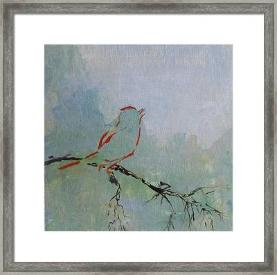 Framed Print featuring the painting Solo by Susan Fisher