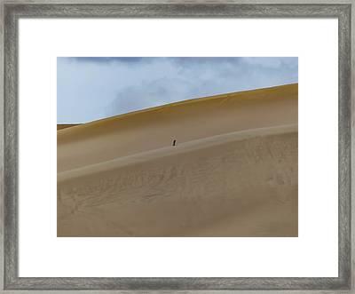 Solo Treker Framed Print