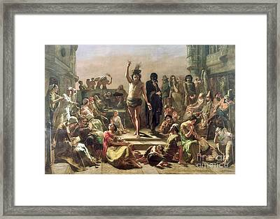 Soloman Eagle Exhorting The People Framed Print