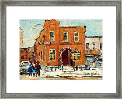 Solomons Temple Montreal Bagg Street Shul Framed Print by Carole Spandau