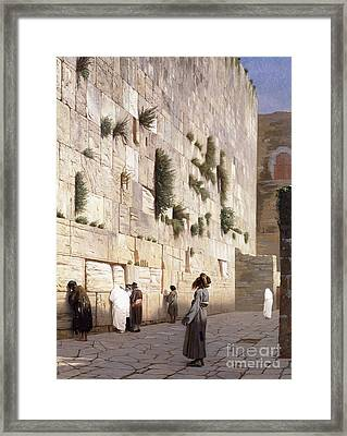 Solomon's Wall, Jerusalem  The Wailing Wall Framed Print