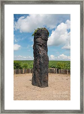 Solstice Celebrations - Menhir Stone Shepherd Framed Print
