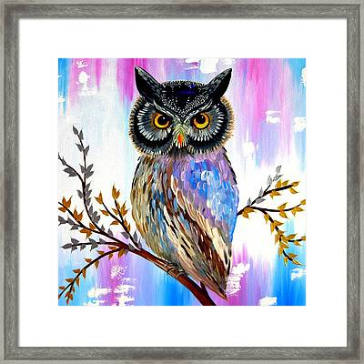 Solstice Owl Framed Print by Cathy Jacobs