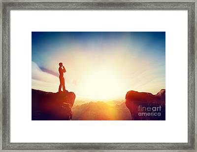 Solve The Problem And Think About Solution Framed Print by Michal Bednarek